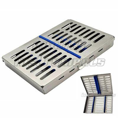 German Dental Sterilization Cassette Rack Box Tray For 10 Surgical Instruments