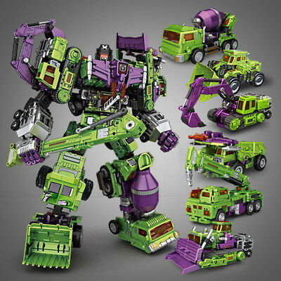 TRANSFORMER NBK Engineering Devastator Gravity Builder LOOSE set of 6 TOY GIFT
