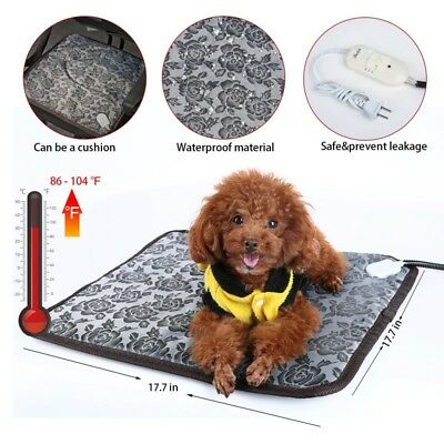Puppy Pet Electric Heating Pad Dog Cat Heating Mat Waterproof Heated Bed Warmer