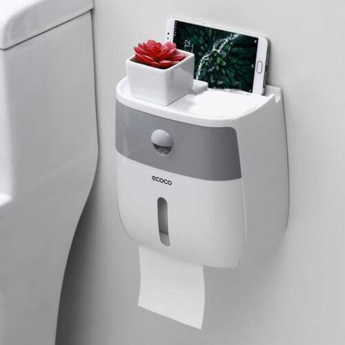 Waterproof Wall Mounted Toilet Roll Paper Towel Holder Bathroom Tissue Box Rack