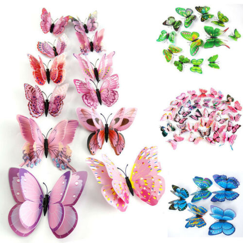 Home Decoration - 12pcs 3D Butterfly Design Decal Art Wall Stickers Room Decorations Home Decor