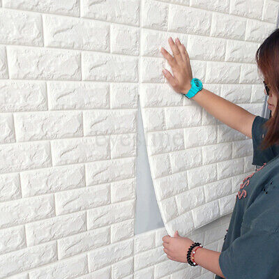 3D Embossed Brick PE Foam Wall Paper Sticker Home Decal Backdrop - Plastic Brick Wall