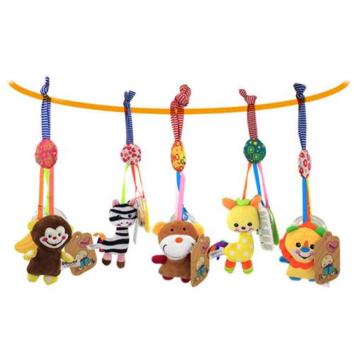 Baby Infant Rattles Plush Animal Stroller Hanging Bell Toy D