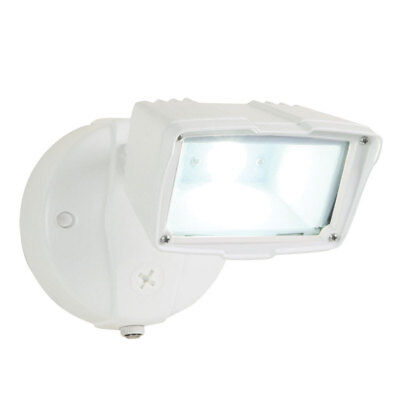 All-Pro  White  Metal  Security Light  Dusk to Dawn  LED  120 volts 33