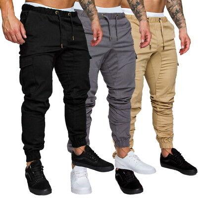 US Fashion Men Sports Pants Long Trousers Sweatpants Casual