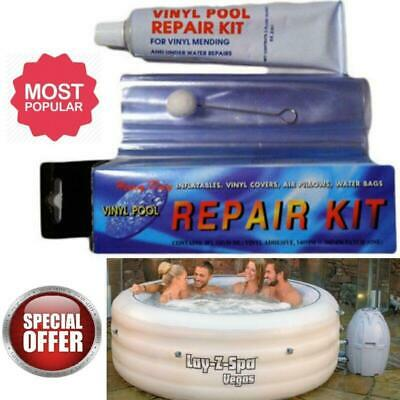 Inflatable Spa & Hot Tub Repair Kit Applied Under Water Pool Lazy Z Adhesive Set