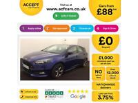 FORD FOCUS BLUE HATCHBACK 2.0 T E/B 250 ST-3 PETROL FROM £88 PER WEEK!
