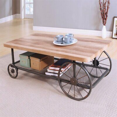 Acme Oak Coffee Table (ACME Francie Coffee Table in Oak and Antique)