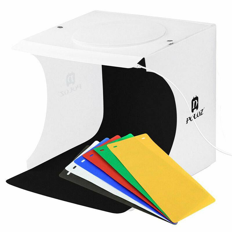 Mini Plastic Folding Lightbox Studio LED Photo Booth Shooting Box Lighting Tent