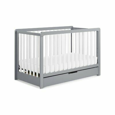 Carter's By DaVinci Colby 4 In 1 Convertible Crib With Trundle Drawer in Gray...