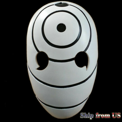 Naruto Tobi Uchiha Obito Costume Resin Mask Helmet Anime Halloween Cosplay Props