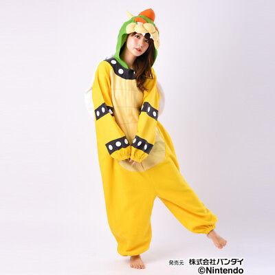 Japan 5307 Super Mario Koopa Fleece Kigurumi Cosplay Costume Nintendo cute (Koopa Kostüm)