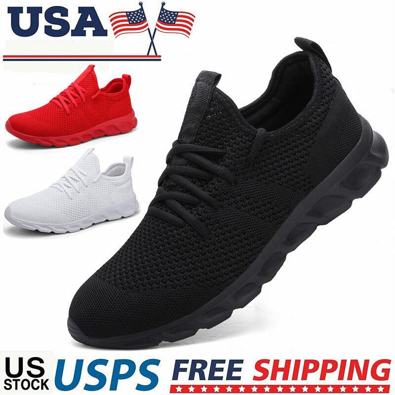Men's Sneakers Gym Running Workout Slip Resistant Tennis Spo
