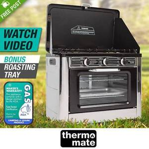 3 Burner Camping Portable Oven and Stove LPG Gas Stainless Steel Adelaide CBD Adelaide City Preview