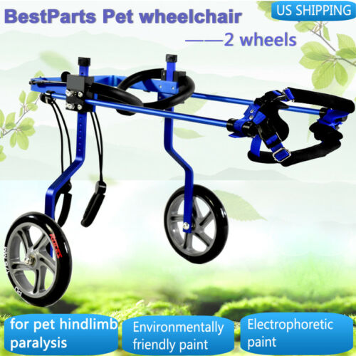 BLUE BestParts Pet/Dog Wheelchair cart for Handicapped Hind Legs Dog/Pet 0-132lb