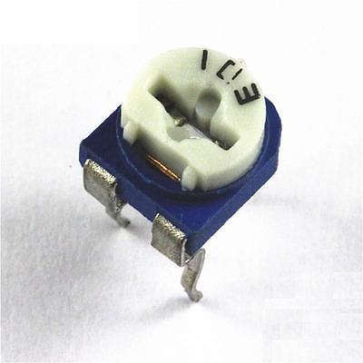 50pcs 10k Blue White Resistance Adjustable Resistor