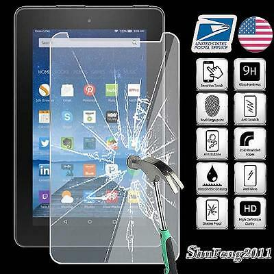 Tempered Glass Screen Protector For Amazon Kindle Fire 7 (5th Gen 2015) Tablet
