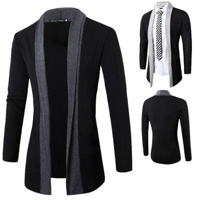 Stylish Men Fashion Knitted Cardigan Jacket Slim Long Sleeve Casual Sweater Coat