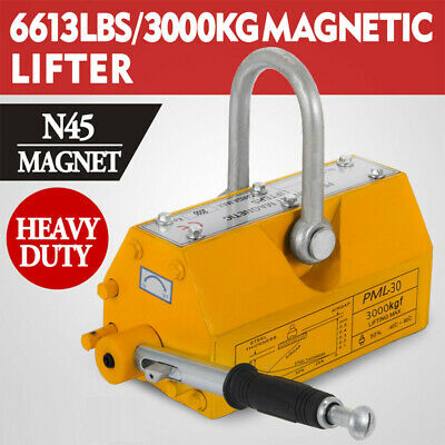 New 6614lbs Steel Magnetic Lifter Crane Hoist Lifting Magnet 3000 Kg