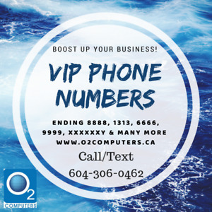Premium Phone number for realtors 604-x00-SOLD available at O2