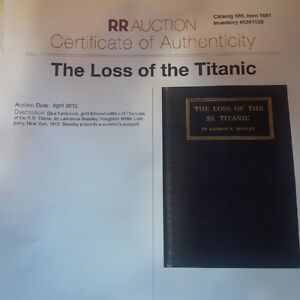 TITANIC ARTIFACTS-NEGOTIABLE- Includes Cert of Authenticity