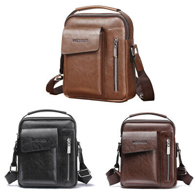Men Business Crossbody Bags Small Casual Hand Bag PU Leather Male Shoulder Bags Business Casual Handbags