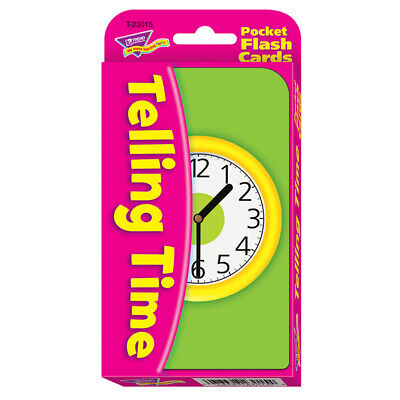 TREND ENTERPRISES INC POCKET FLASH CARDS TELLING TIME
