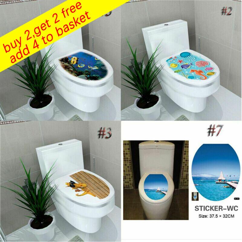 Home Decoration - New Decoration Home Decor Bathroom Vinyl Mural 3d Decal Toilet Seats Stickers