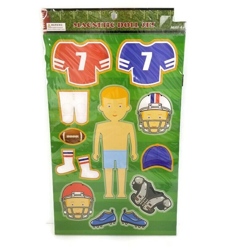 Magnetic Paper Doll Football Players