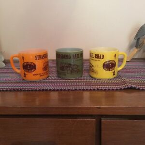 Vintage Kitchen Railroad Mugs & Retro Glasses Combo ~ $10 Kingston Kingston Area image 1