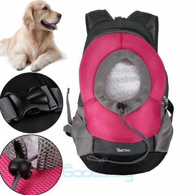Large Size Dog Carrier Travel Front Back Backpack Pet Carrying Pouch Bags Red