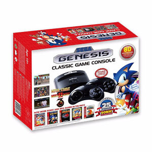 BRAND NEW IN BOX SEGA GENESIS CLASSIC GAME CONSOLE WITH 80 GAMES