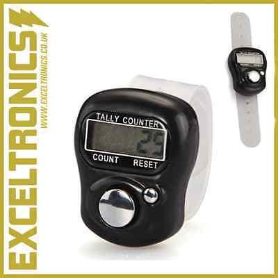 (DIGITAL LCD GOLF TALLY STROKE COUNTER CLICKER GOLFING SCORE TALLY FINGER CLICKER)
