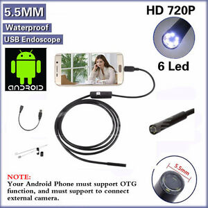 Caméra USB Endoscope inspection de Serpent Android 3.5/6LED/7mm
