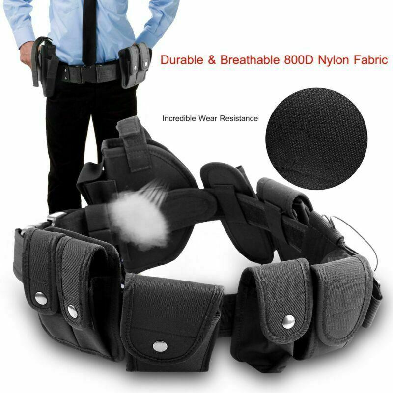 Tactical Police Security Duty Utility Belt Guard Modular Enforcement Equipment