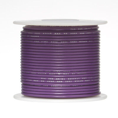 18 Awg Gauge Solid Hook Up Wire Violet 100 Ft 0.0403 Ul1007 300 Volts
