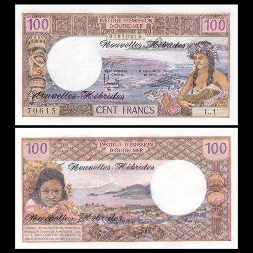 New Hebrides, 100 Francs, ND(1977), P-18d, banknote, UNC