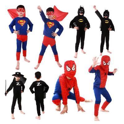 Halloween Costumes Spiderman Batman Superman Kids Superhero Capes Anime Cosplay (Anime Superhero Costumes)
