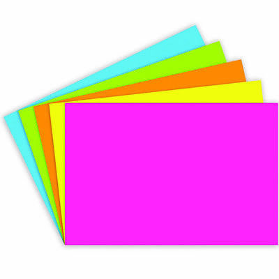 Tnt Top Notch Teacher Blank 4 X 6 Index Cards - 100 Ct Brite Assorted Colors