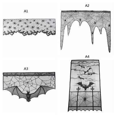 60 * 20 Zoll Halloween-Dekoration Black Lace Spider - Halloween Spider Web