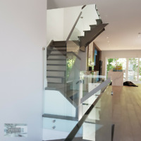 INTERIOR OR EXTERIOR GLASS RAILINGS SYSTEMS