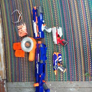 3 Nerf Guns