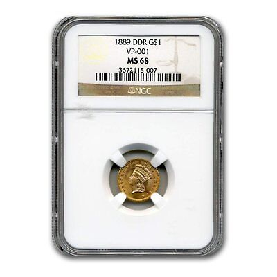 Click now to see the BUY IT NOW Price! 1889 $1 INDIAN HEAD GOLD MS 68 NGC DDR VP 001