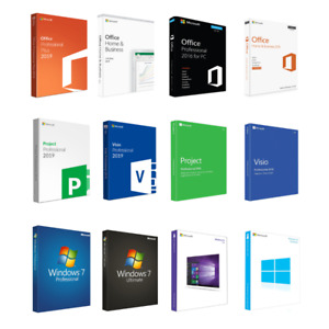 Win 10, Win 7, Office 2019, Office 2016,  MS Visio, MS Project