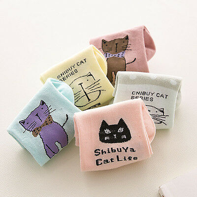 New Arrival Cartoon Cat Socks Girl Womens Cotton Short Tube Low Cut Female Socks - Short Girls Tube