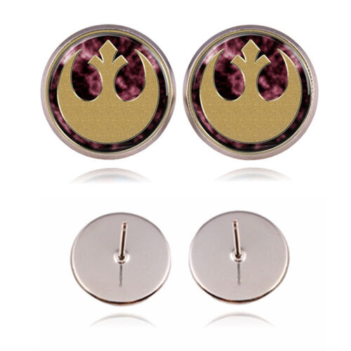 Star Wars Rebel Alliance Logo Silver Plated Women Stud Earri