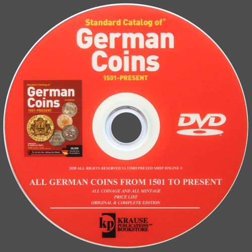 CATALOG OF GERMAN COINS FROM 1501 TO PRESENT - NEW ORIGINAL DVD KRAUSE