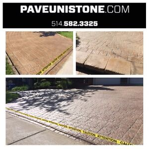 UNISTONE RELEVEL - UNISTONE CLEANING - PAVE_UNI STONE .COM - West Island Greater Montréal image 6