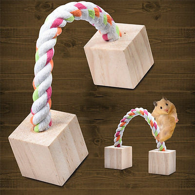 Wooden Teeth Grinding Box Exercise Toy for Hamster Hedgehog Mouse Rat Guinea Pig