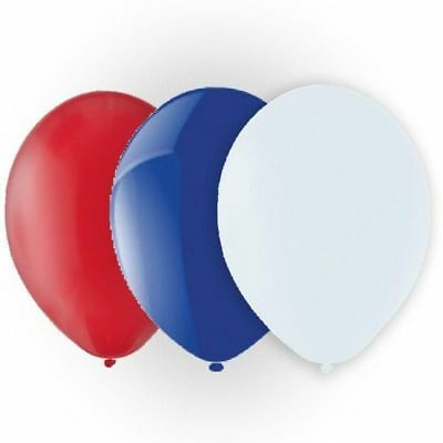 100 Red White Blue Balloons GB Union Jack Royal Wedding Street Party - Royal Party Decorations